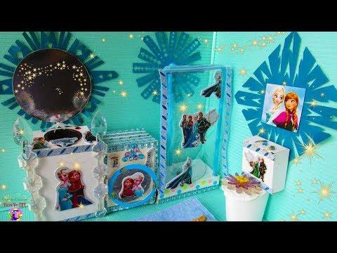 DIY Miniature Doll Bathroom for Disney Frozen Elsa
