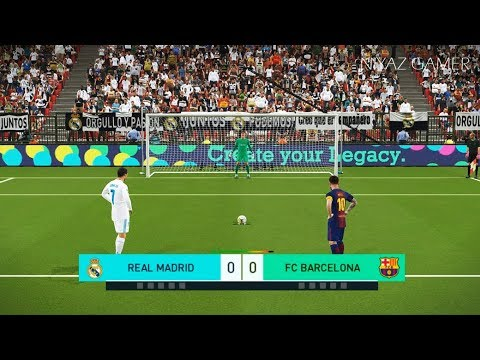 REAL MADRID vs FC BARCELONA   Penalty Shootout   PES 2018 Gameplay PC