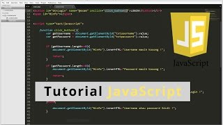 Tutorial JavaScript OnClick OnKeyUp & HTML