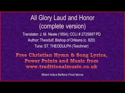 All Glory Laud And Honor (Complete Verses)(MP9-BH126)-Hymn Lyrics & Music