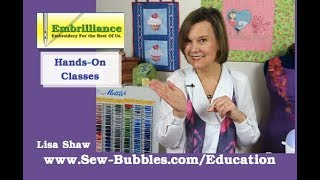 Hands on Embrilliance Software Classes with Lisa Shaw