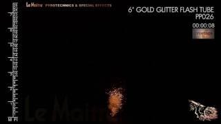 LeMaitre ProStageII: 6 inch Gold Glitter Flash Tube
