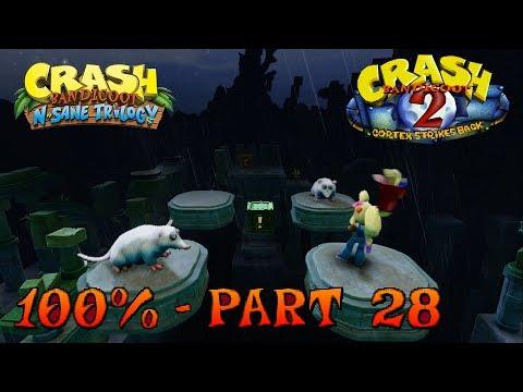 Crash Bandicoot 2 - N. Sane Trilogy - 100% Walkthrough, Part 28: Ruination (Both Gems)