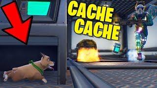 MON CHIEN SE CACHE !! (Cache Cache Fortnite)