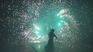 Огненное шоу (Фаер шоу) на свадьбе. Пиротехника и искры. Театр