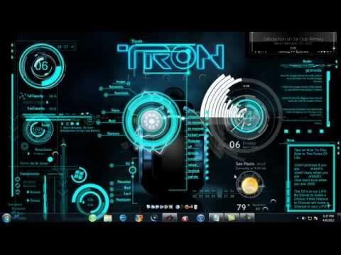 3d Cube Desktop Wallpaper Tron Legacy 3d Desktop Youtube