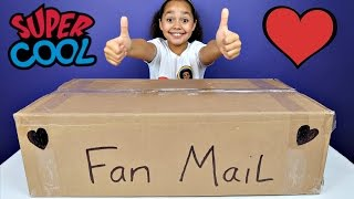 giant po box fan mail presents surprise toys for kids shopkins candy opening