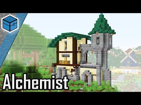 Alchemisten Haus In Minecraft Bauen   Minecraft Mittelalter Haus Bauen Deutsch