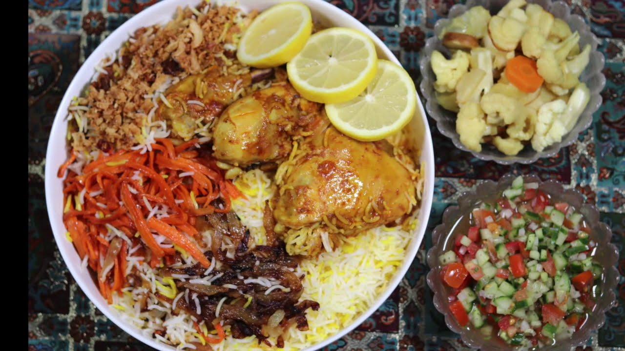 مرغ لایی با برنج زعفرانی | آموزش آشپزی زیر ۱۰ دقیقه |آشپزی ایرانی | غذای ایرانی | amozesh ashpazi