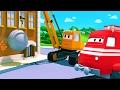 Troy der Zug und Dane der Abrisskran in Autopolis | Auto & Lastwagen Cartoons für Kinder