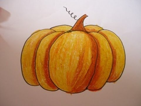 pumpkin drawing with shading. easy drawing for kids,pumpkin and shading in simple steps pumpkin with youtube
