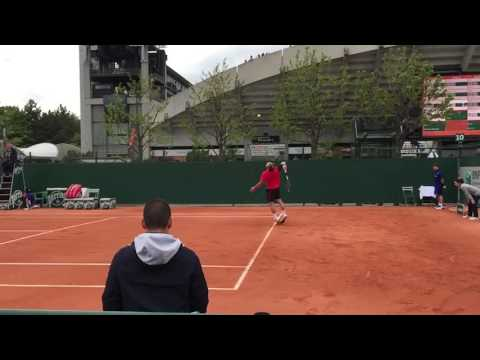 Steve Darcis' serve, forehands, and backhand in super slow motion
