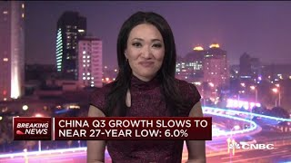China third-quarter growth slows to a near 27-year low