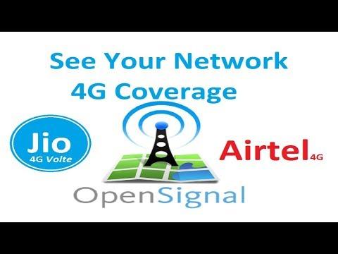 Open Signal Jio 4G Coverage Vs Airtel 4G Coverage