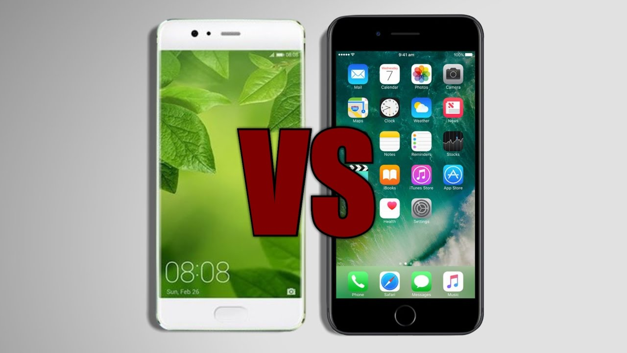 Huawei p10 vs iphone 7 versus