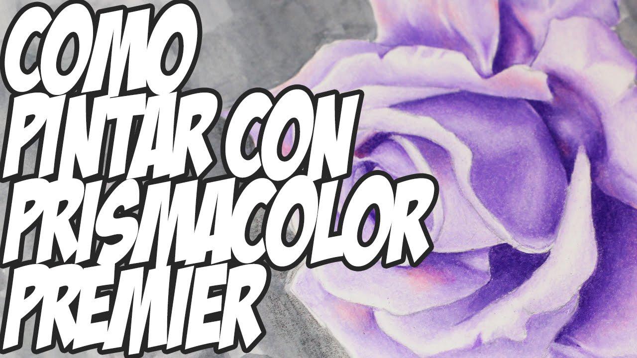 Como Pintar Un Dibujo Con Colores: Como Pintar Y Difuminar Con Colores Prismacolor Premier