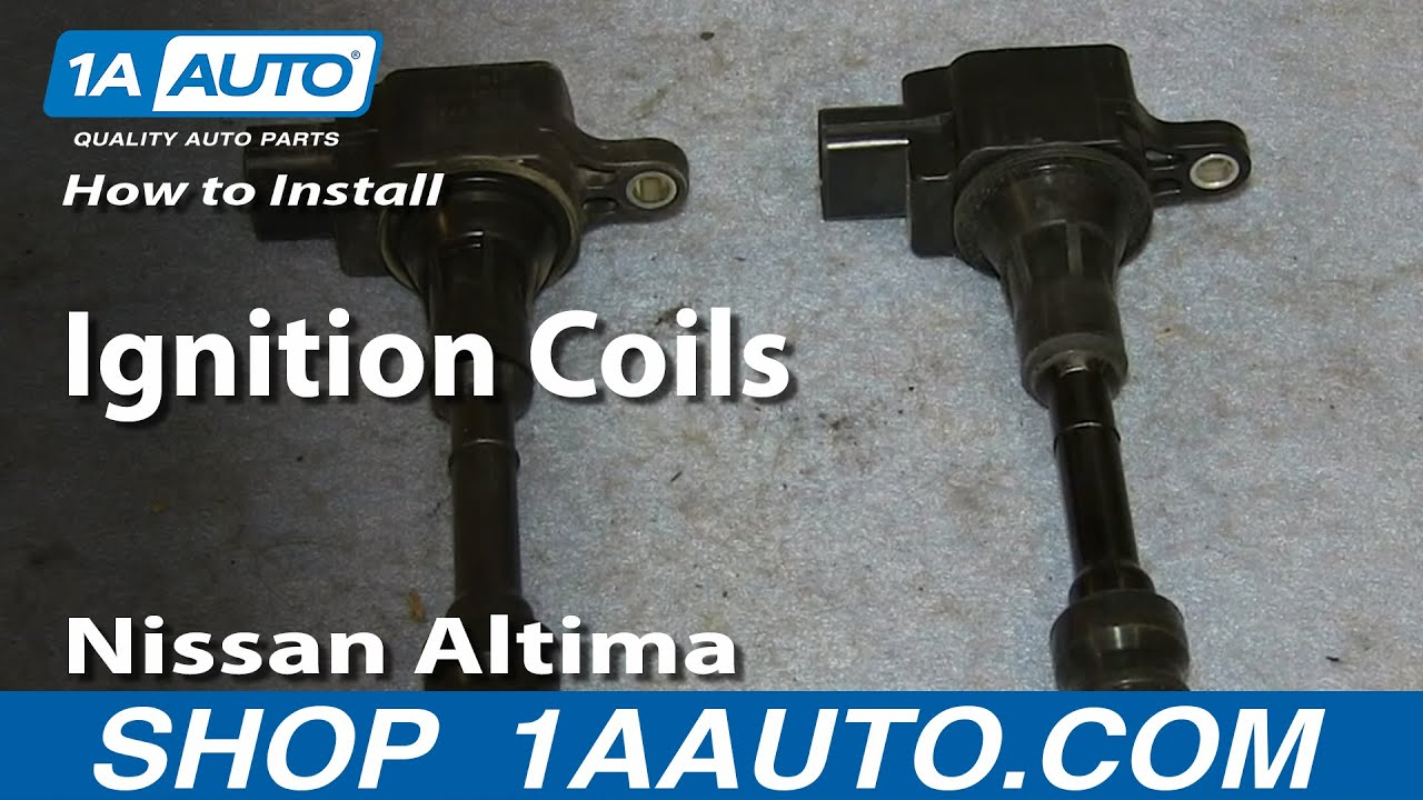 how to install replace ignition coils 2 5l 2002 06 nissan. Black Bedroom Furniture Sets. Home Design Ideas
