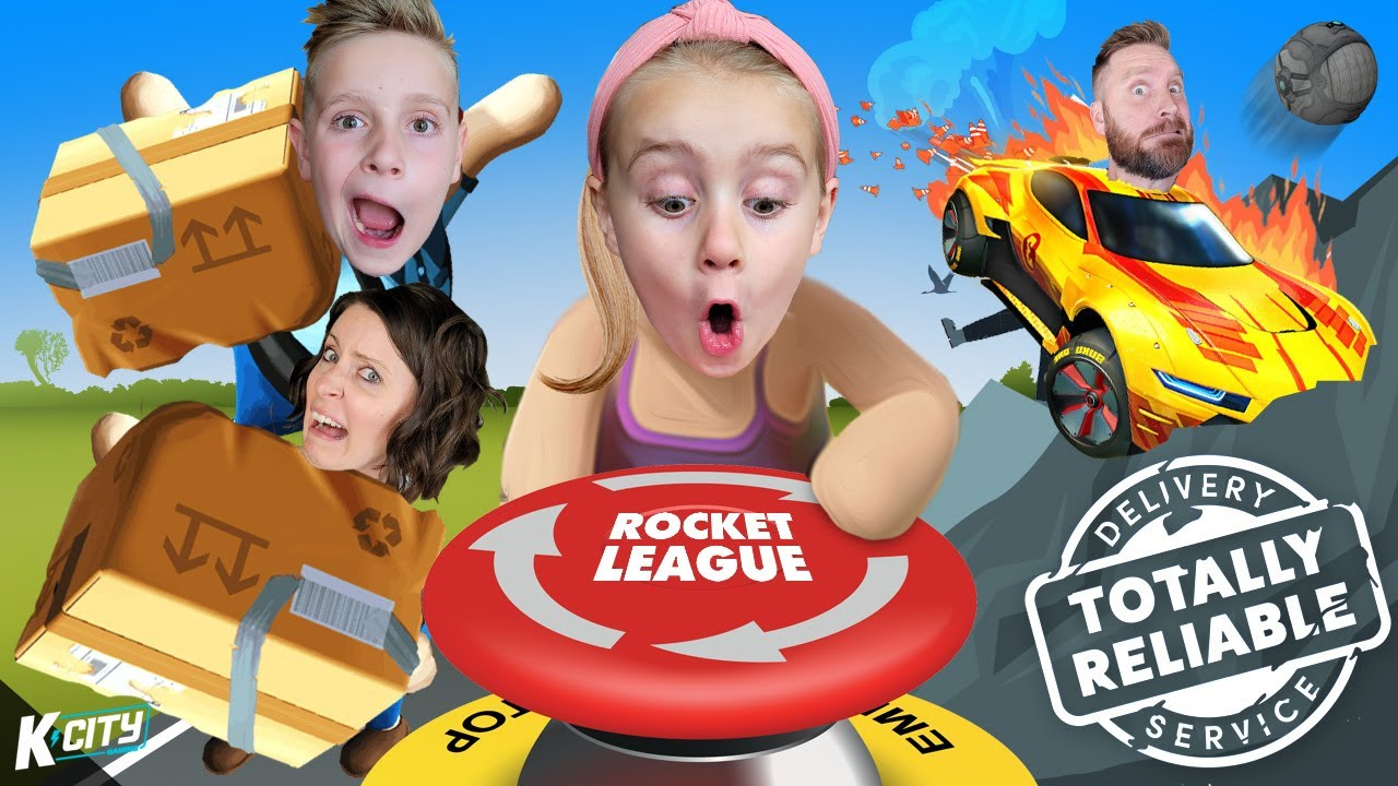 DON'T Touch that Rocket League BUTTON!! (Totally Reliable Delivery Service #2) K-CITY GAMING