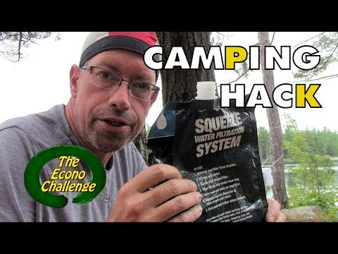 Camping Hack - Sawyer Squeeze Water Filtration System