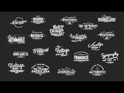 Vintage Typography Pack + Slideshow Creator + Text Presets By