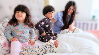 أول لقاء لاطفالنا مع اخوانهم التوأم | ردة فعلهم😅