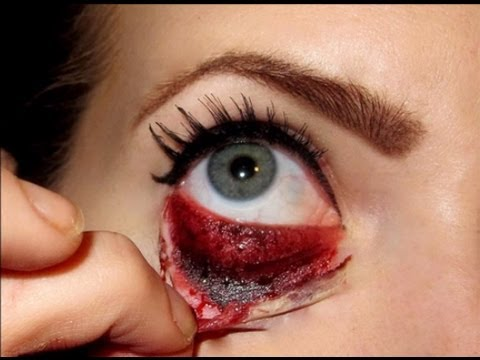 halloween makeup tutorial bloody eye youtube. Black Bedroom Furniture Sets. Home Design Ideas