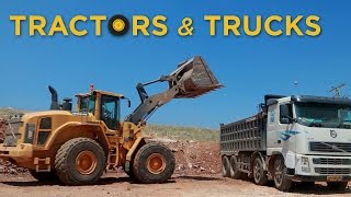Real Trucks Tractors and Bulldozers | 🚚 Toys for Boys