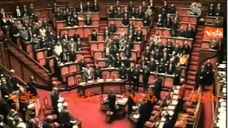 ATTENTATO PARIGI CHARLIE HEBDO - SENATO OSSERVA MINUTO SILENZIO w01 09