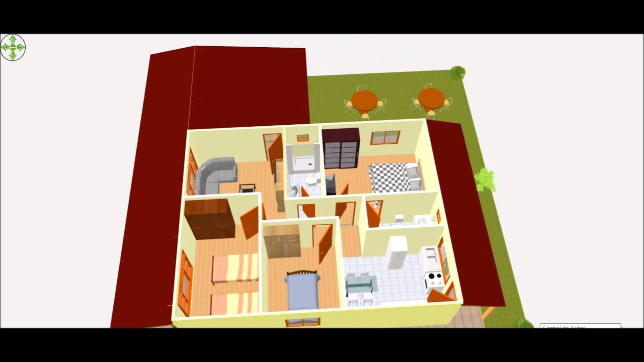 casa de 80 m² projetada em 3d - youtube