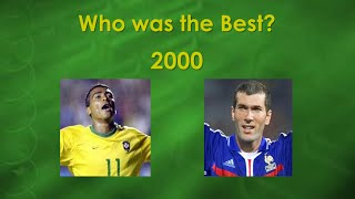2000 zidane vs romrio   skills assists and goals   who was the best