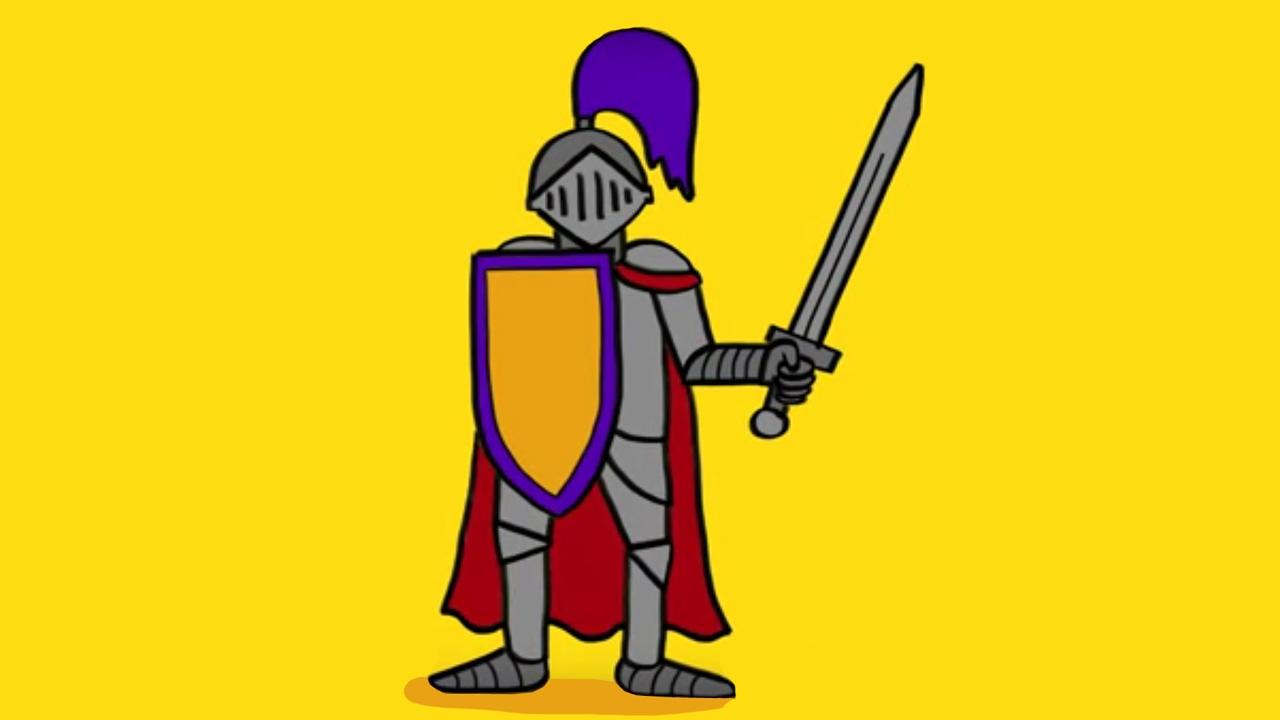 Comment dessiner un chevalier avec son armure et son p e - Dessin armure ...