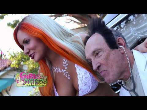 Gabi Grecko and Dr. Deadelsten on the cover of Girls and Corpses
