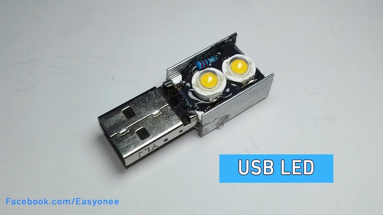 How To Make A USB Led Light   DIY Mini LED Night Lamp