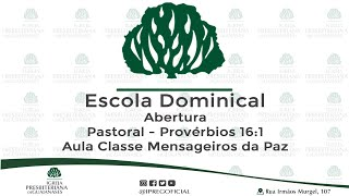 Escola Dominical ao vivo - 19-07-2020