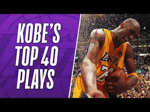 Kobe Bryant's TOP 40 Plays of His NBA Career!