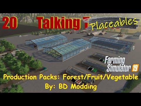 Farming Simulator 19   Talking Tractors #20   Production Packs