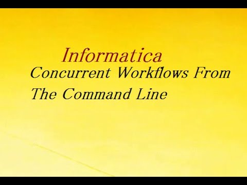 Starting Concurrent Workflows From The Command Line