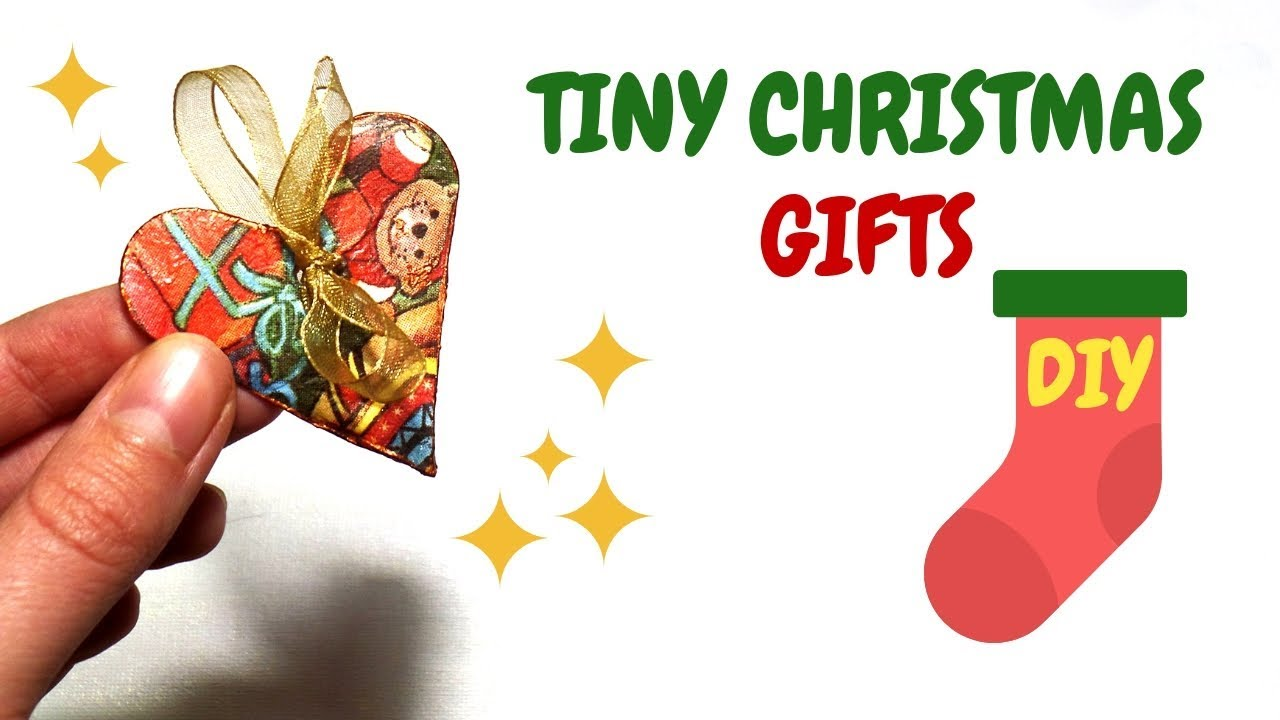 DIY Tiny Christmas Gifts to Fill the Stockings | Stocking Stuffers ...