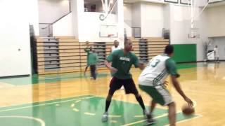 Paul Pierce Fab Melo go 1-on-1 Celtics practice