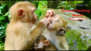 Amazing! Sovana Tries Checking Her Friend's Mouth For Food, Why Sovana Do Like This With Friend?
