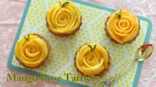 Mango Rose Tartlets | Eggless | Mother's Day Special