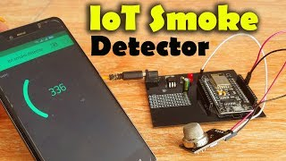 IoT Smoke Detector using MQ135 Gas Sensor, Nodemcu ESP8266, and Blynk Application