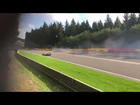 Anthoine Hubert dies after Formula 2 Crash Spa - Francorchamps (Close footage) August 31, 2019