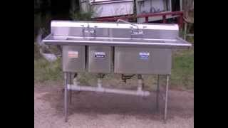 3 compartment sink stainless steel