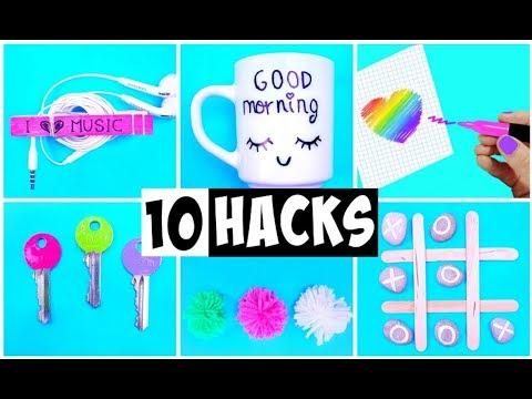 10 AMAZING HACKS THAT MAKE LIFE EASIER   DIY Life Hacks and Crafts
