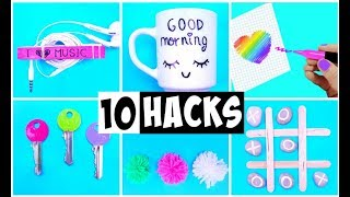 10 AMAZING HACKS THAT MAKE LIFE EASIER | DIY Life Hacks and Crafts