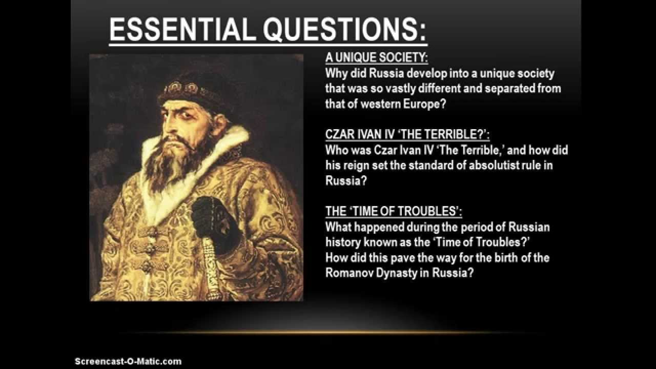 ivan iv the terrible czar of Ivan iv: ivan iv, grand prince of moscow (1533–84) and the first to be proclaimed tsar of russia (from 1547) his reign saw the completion of the construction of a.