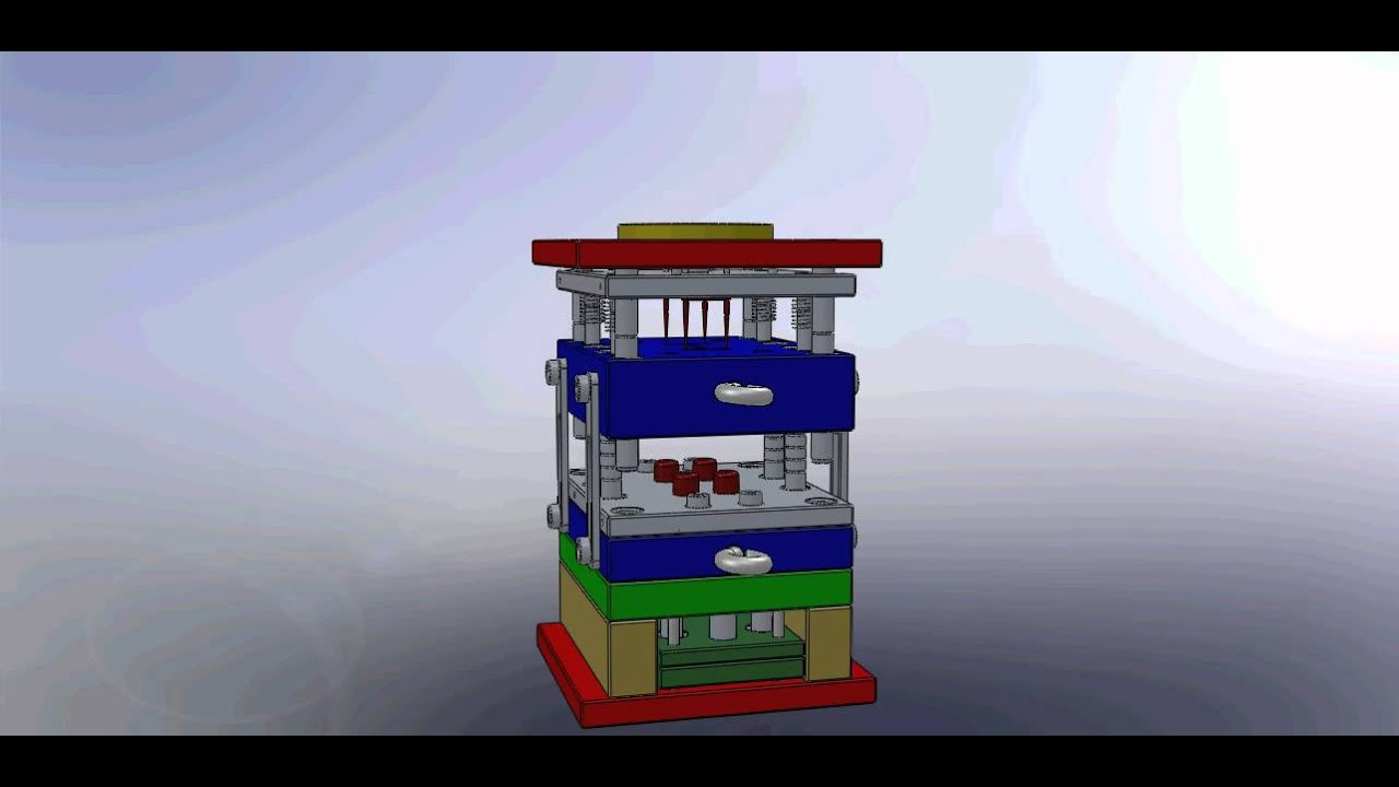 Three Plate Mould With Stripper Plate And Feed Plate Youtube