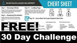 Free! how to build a niche authority blog 🔥 make money in 30 day challenge!