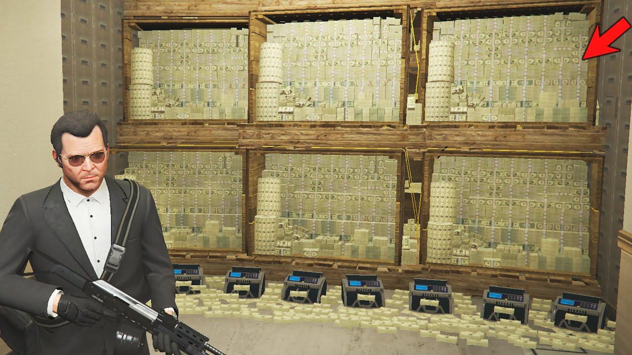 GTA 5 - Bank Robbery With Michael (Gta V Secret Heist)